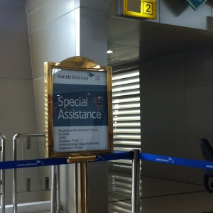 Special Assistance Line - Garuda Indonesia give priority to passengers who need special assistance, including pregnant women